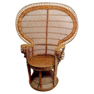 Rattan Wicker Emanuelle Peacock Chair For Sale