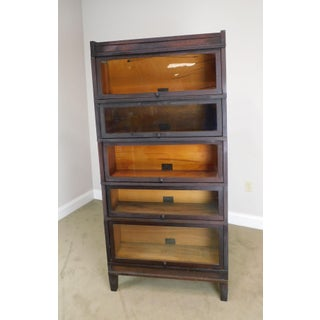 Globe Wernicke Antique Mahogany 5 Stack Barrister Bookcase Preview