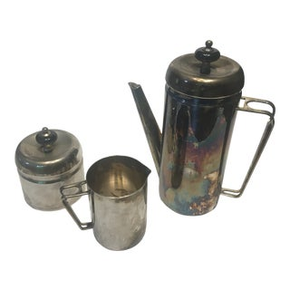 Vintage Metal Tea Set - Set of 3 For Sale