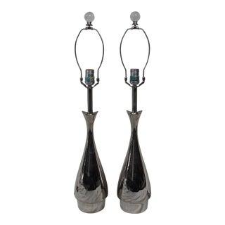Laurel Chrome Table Lamps - A Pair