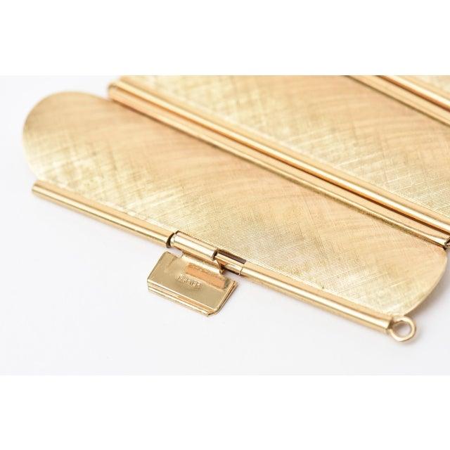 Napier Modern Gold Tone Cuff Bracelet For Sale - Image 9 of 11