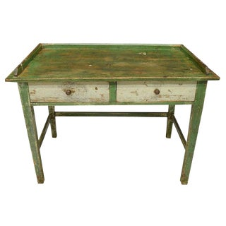Scandinavian Painted Pine Work Table For Sale