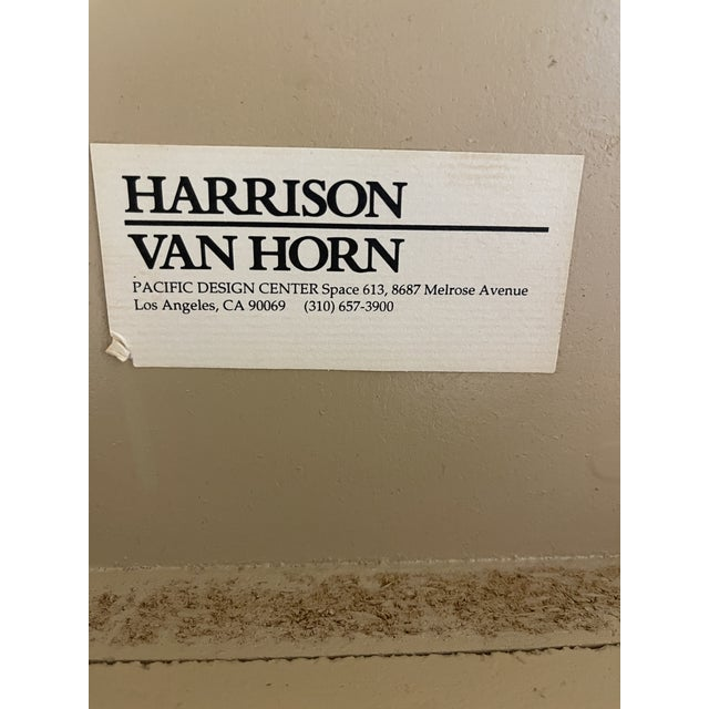 1970s Harrison Van Horn Grass Cloth Dining Table For Sale - Image 5 of 8
