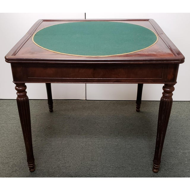 Early 20th Century English Regency Style Mahogany Flip Top Games Table For Sale - Image 9 of 9
