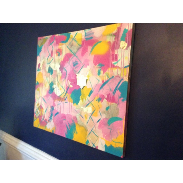 Abstract Michelle Chong Abstract Mixed Media on Canvas Pastel Painting For Sale - Image 3 of 9