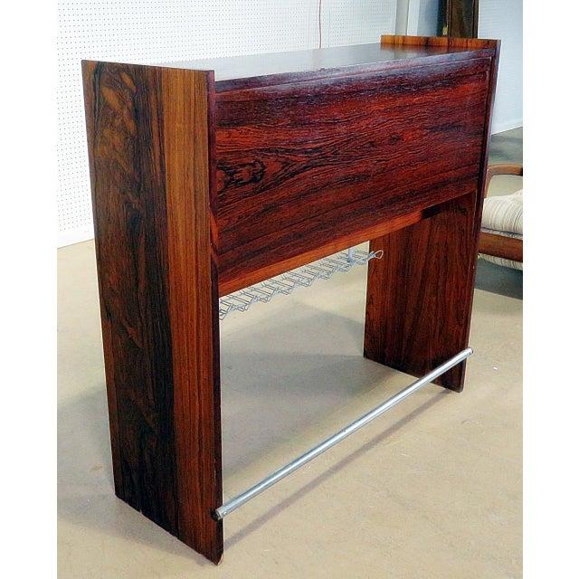Black Danish Rosewood Dry Bar For Sale - Image 8 of 9