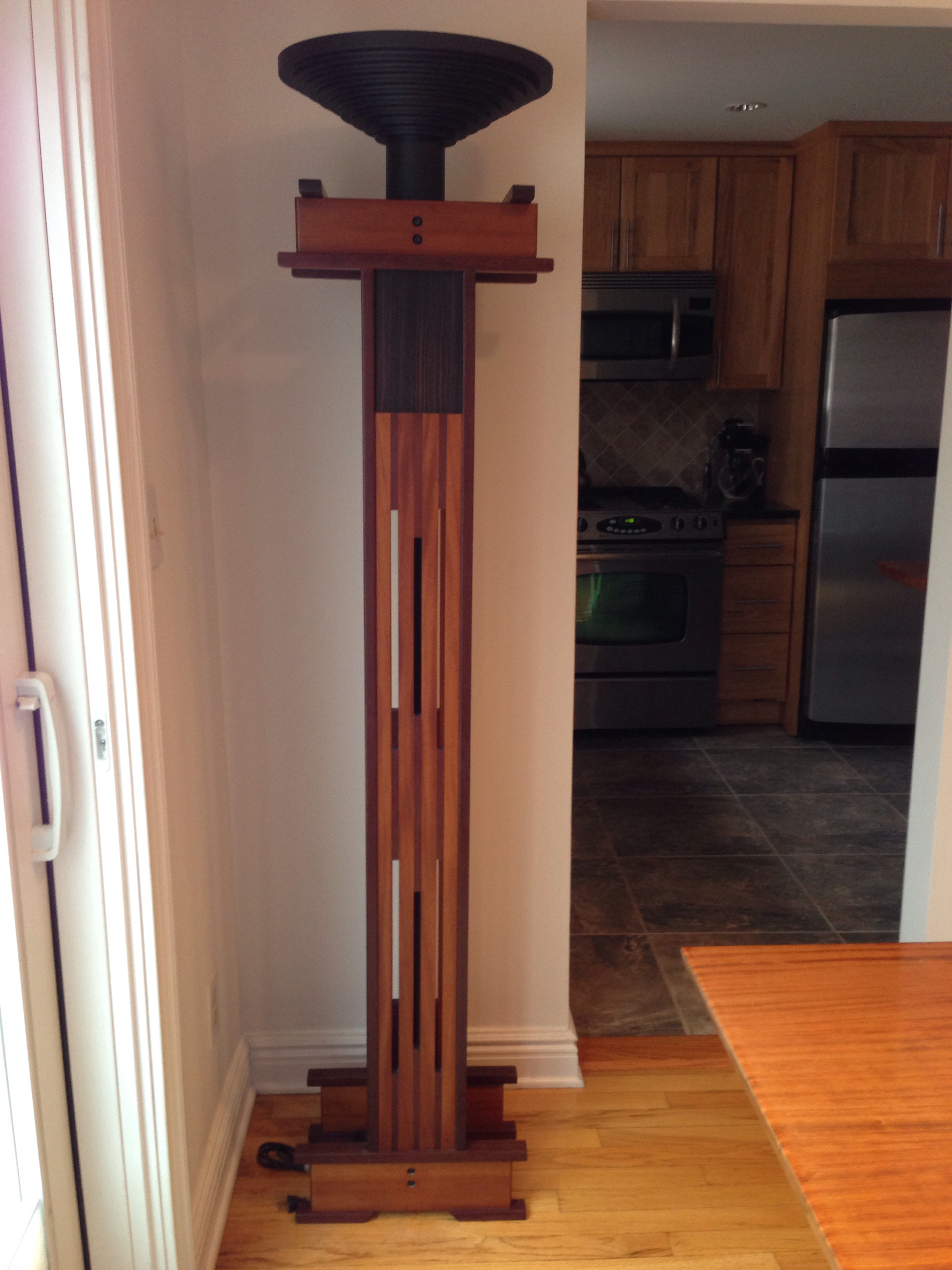 Handcrafted Mission Style Floor Lamp By Master Craftsman: Anthony Beverly  Of Woodenworks. Solid Wood
