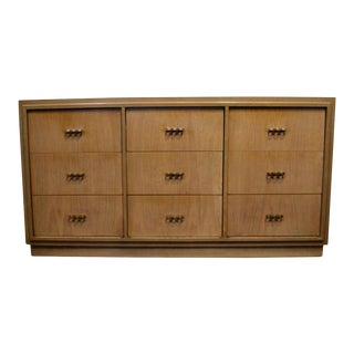 Paul Frankl Style 1950s Dresser With Brass Knuckle Pulls For Sale