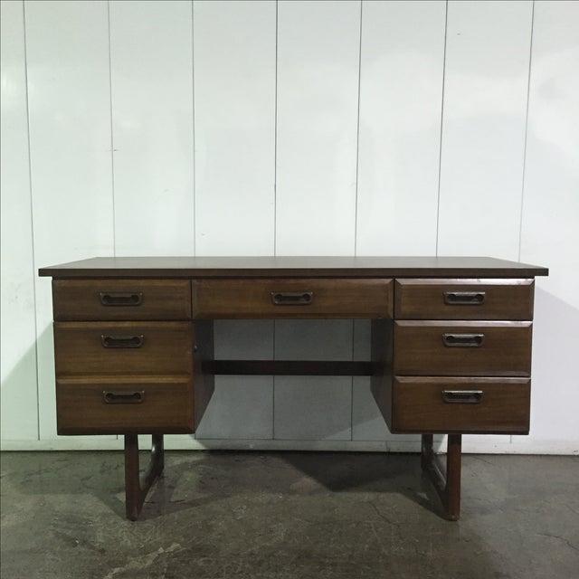 Mid-Century Danish Style Executive Desk - Image 2 of 5
