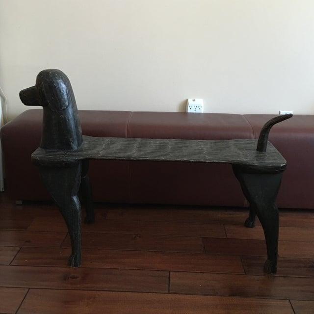 Black Dog Wooden Bench - Image 2 of 10