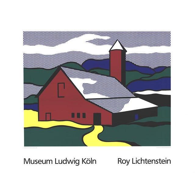 Roy Lichtenstein - Red Barn II (Lg) - 1989 - Image 1 of 2
