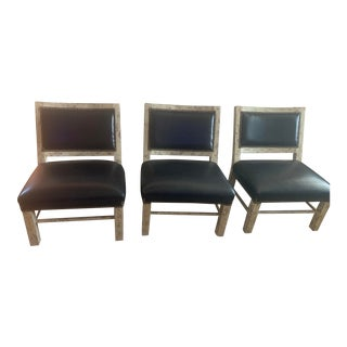1980s Vintage Wedge Slipper Lounge Chairs - Set of 3 For Sale