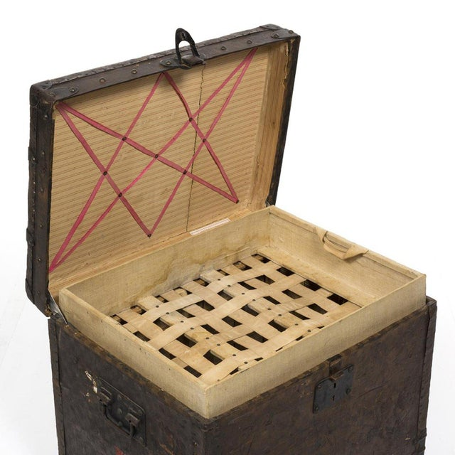 Louis Vuitton 1890 Damier Steamer Trunk For Sale - Image 5 of 7
