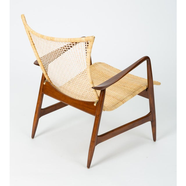 Metal Lounge Chair With Cane Seat by Ib Kofod-Larsen for Selig For Sale - Image 7 of 13