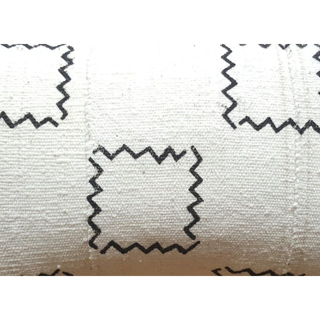 African Mud Cloth Geometric Lumbar Pillow - Image 2 of 3