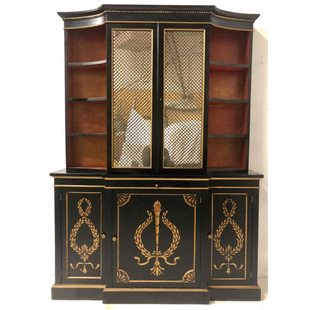 Hollywood Regency Italian China or Library Cabinet For Sale In Atlanta - Image 6 of 9