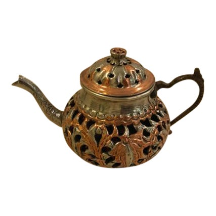 Vintage Turkish Brass Teapot For Sale
