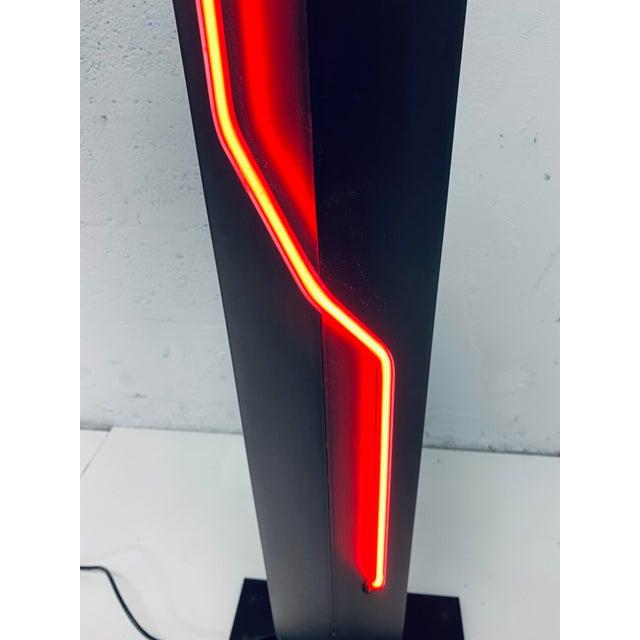 Rudi Stern Postmodern Red Neon Floor Lamp for George Kovacs, 1980s For Sale - Image 10 of 13