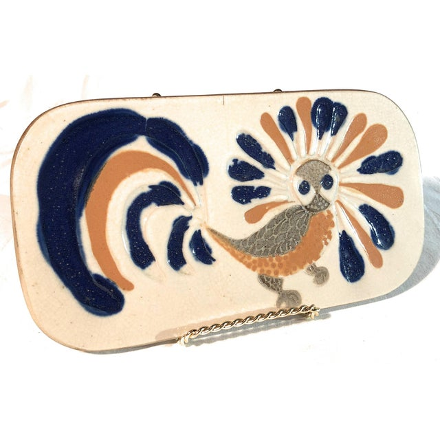 1960s 1960's Bennington Potters Fighting Cock Trivet For Sale - Image 5 of 5