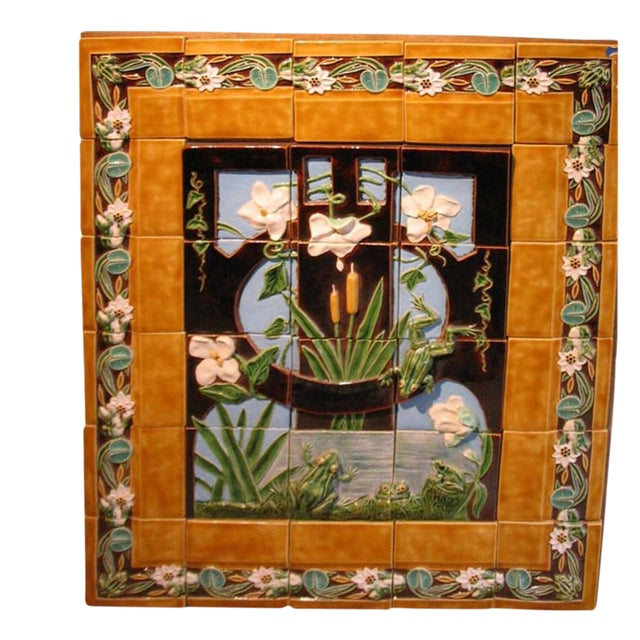 Mid 18th Century Majolica Tile Panel For Sale