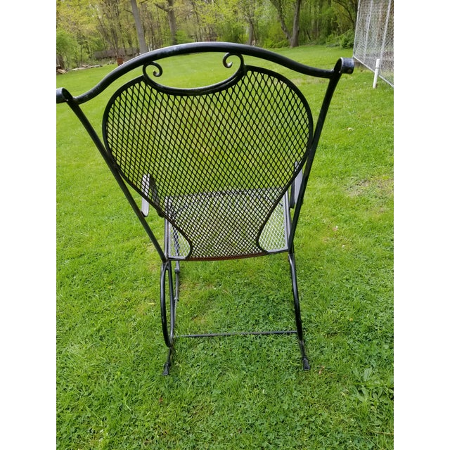 Metal Russell Woodard Wrought Iron Rocking Chair For Sale - Image 7 of 11
