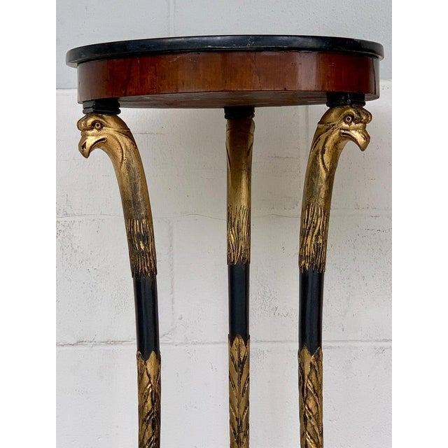 19th Century Pair of 19th Century Baltic Giltwood Eagle Motif Pedestals For Sale - Image 5 of 13