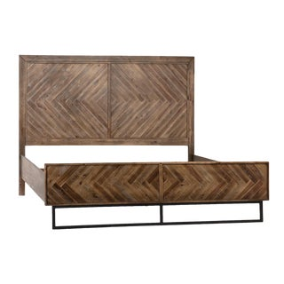 Contemporary Erdos + Ko Harrison King Sized Wood Bedframe For Sale