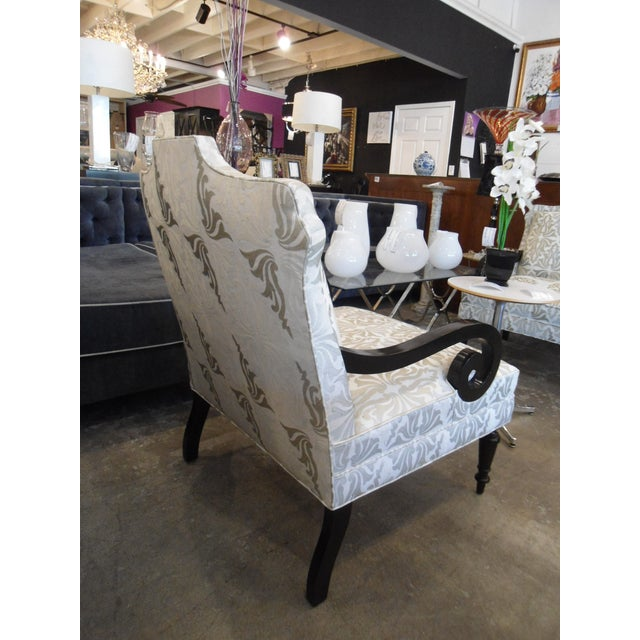 White & Silver Bergere Arm Chair - Image 6 of 10