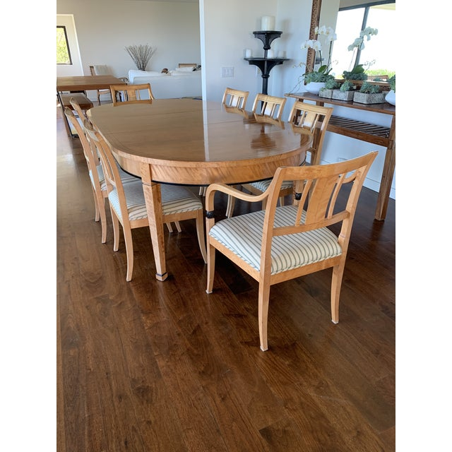 Biedermeier Style Extendable Dining Set For Sale In Los Angeles - Image 6 of 10