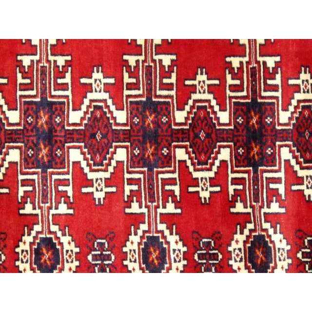 """Pasargad Vintage Balouch Area Rug- 3'11"""" X 5' 4"""" - Image 2 of 4"""