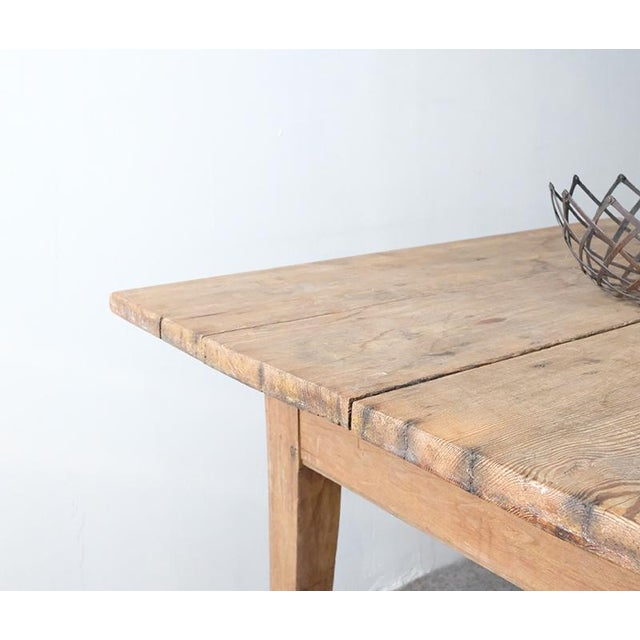 1900 - 1909 1900s Farmhouse Dining Table For Sale - Image 5 of 6
