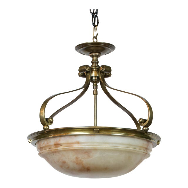 Alabaster Semi Flush 18″ Bowl For Sale