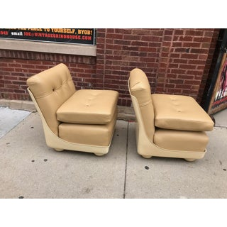 Vintage Mid Century Modern Mario Bellini for B&b Italia Amanta Chairs Newly Upholstered - Set of 2 Preview