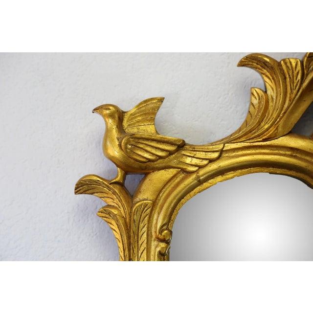 Vintage Gold Gilt Wood Mirror For Sale - Image 5 of 9