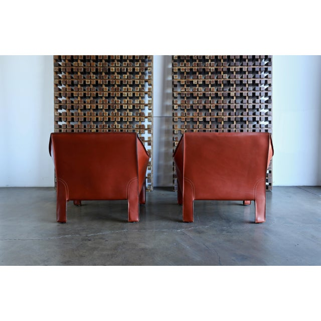 Red Mario Bellini for Cassina Large Cab Lounge Chairs - a Pair For Sale - Image 8 of 13