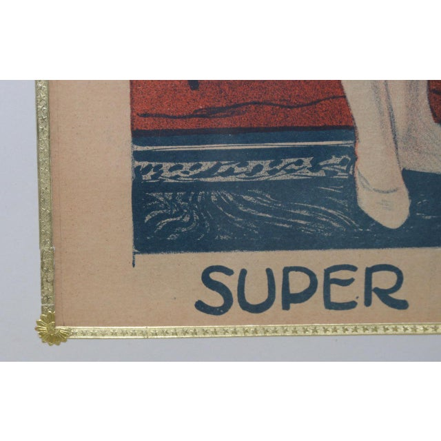 French Londonia Super Acrobats Antique French Poster C.1900 For Sale - Image 3 of 10