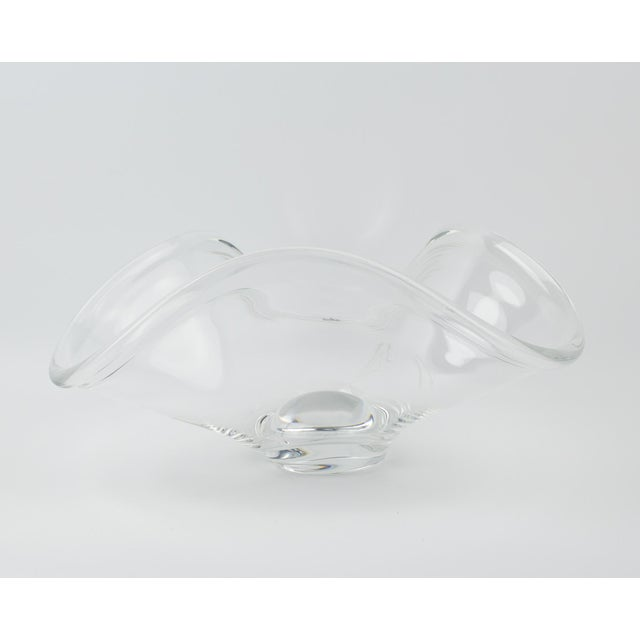 1970s Rosenthal Crystal Rounded Wave Bowl For Sale - Image 5 of 12