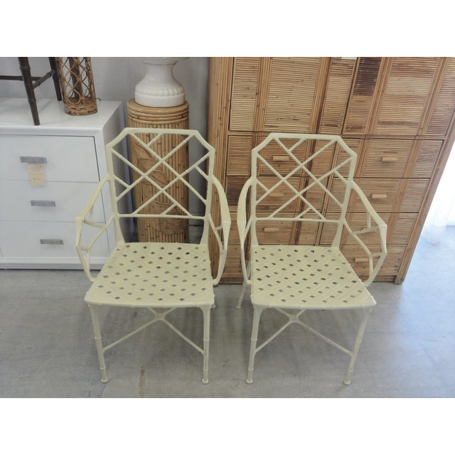 Chippendale Brown Jordan Calcutta Faux Bamboo Chairs - a Pair For Sale - Image 3 of 8