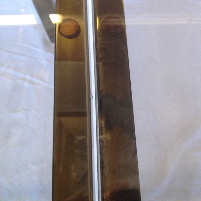 Antique Brass & Glass Extendable Dining Table - Image 4 of 5