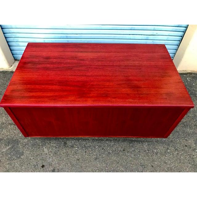 1950s Refinished 'Painted Lady' Pontoon Base Executive Desk For Sale - Image 12 of 13