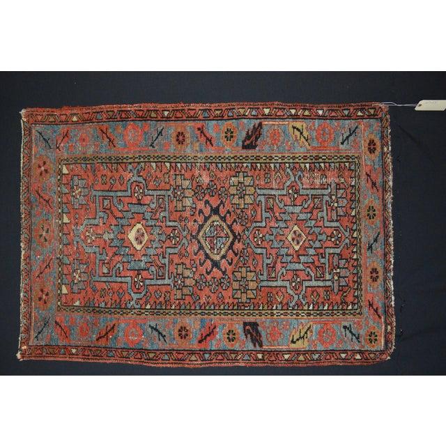 "Antique Persian Karaja Rug - 3'1"" x 4'3"" For Sale - Image 9 of 11"