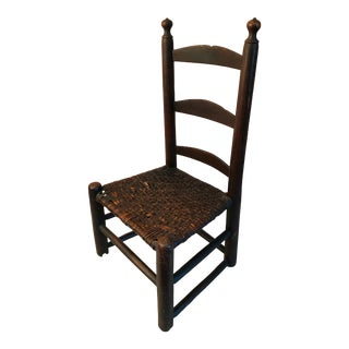 Mid 19th Century Child's Chair with Grain Paint For Sale