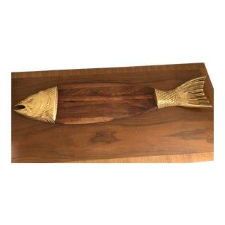 Vintage Salmon Fish Serving Board Platter For Sale