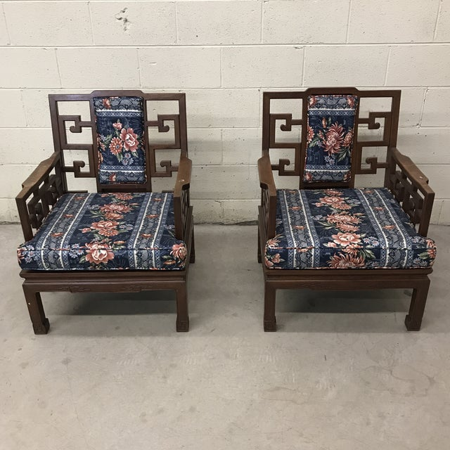 Rosewood Carved Greek Key Chairs - a Pair For Sale - Image 12 of 12