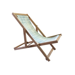 Folding Sling Chair With African Mud Cloth