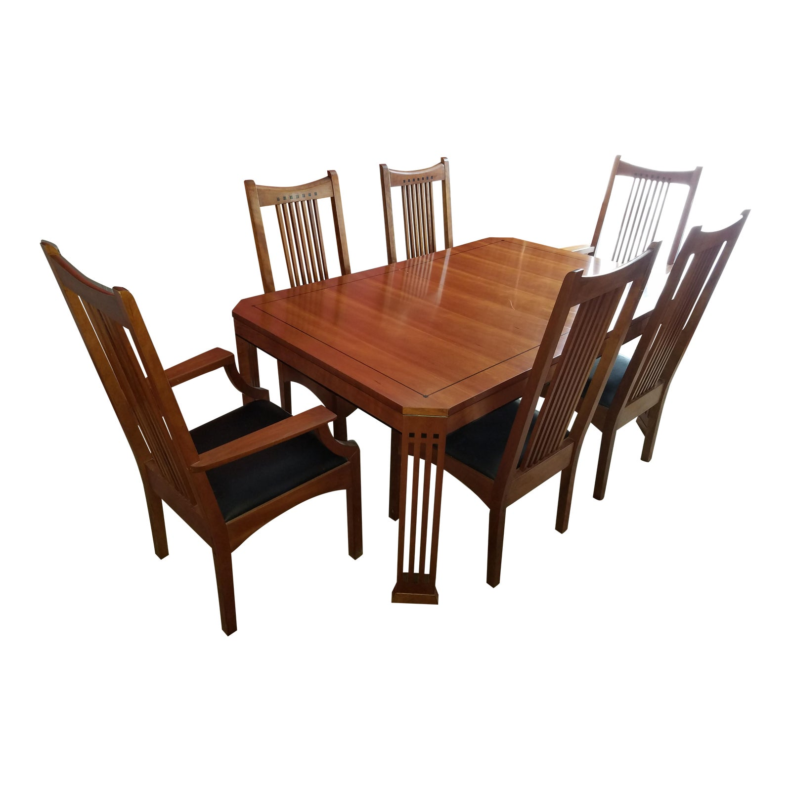 Stickley Dining Room Furniture For Sale: Stickley 21st Century Collection Dining Table Set With 6