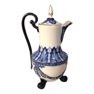 Blue and White Bombay China Coffee Pot For Sale