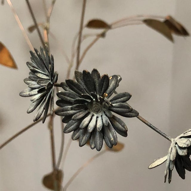 Brass Curtis Jere Brass Tree Birds Nest Floor Sculpture For Sale - Image 7 of 12