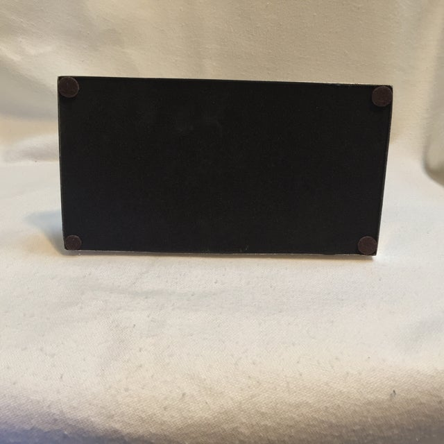 Black Rectangular Chrome Mantle Clock For Sale In Sacramento - Image 6 of 6