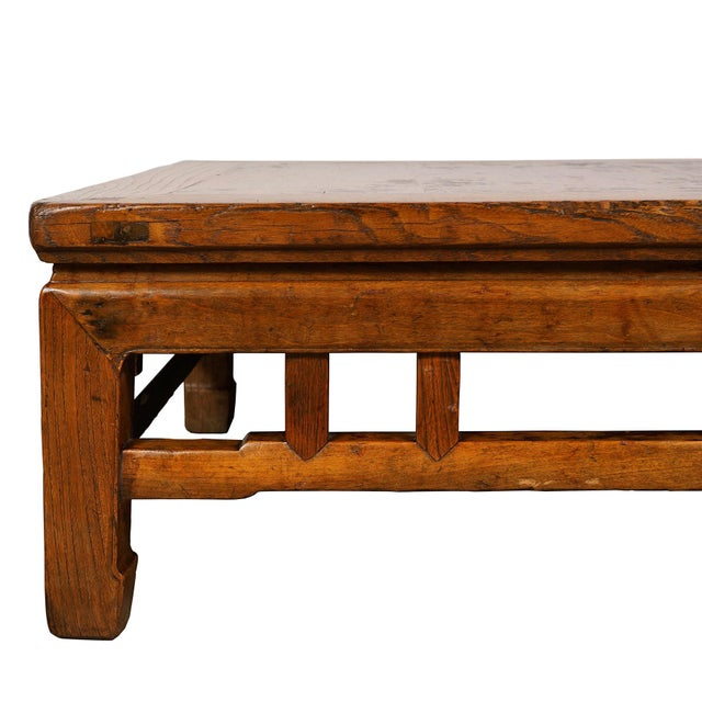Wood Antique Chinese Carved Kang Table/Coffee Table For Sale - Image 7 of 12
